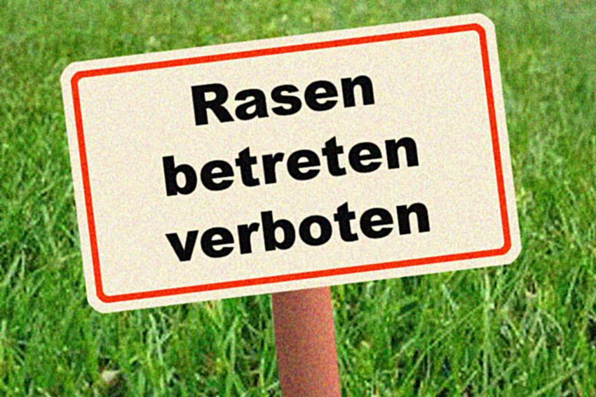 Rasen betreten verboten