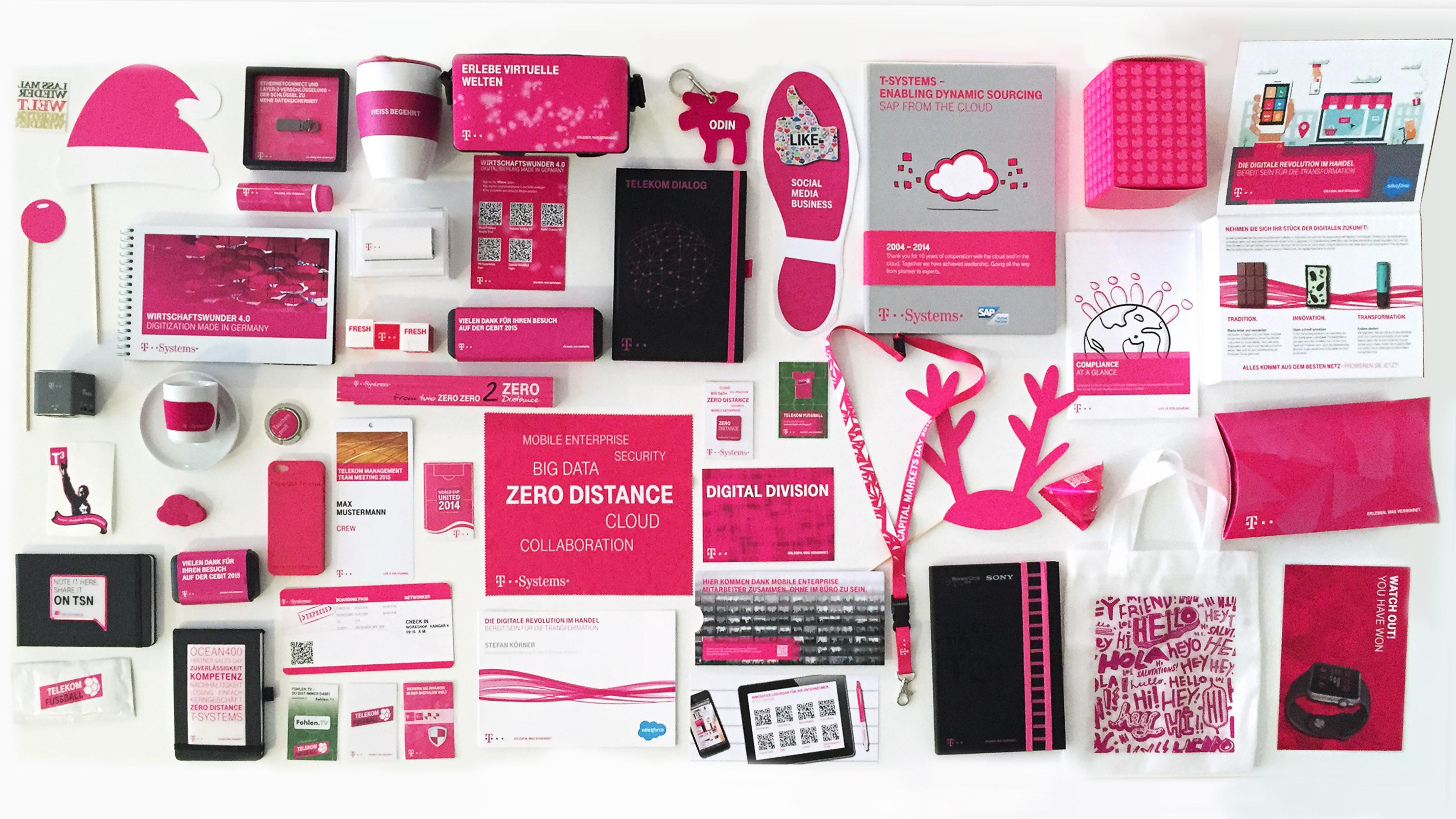 MB Belege Telekom Werbemittel